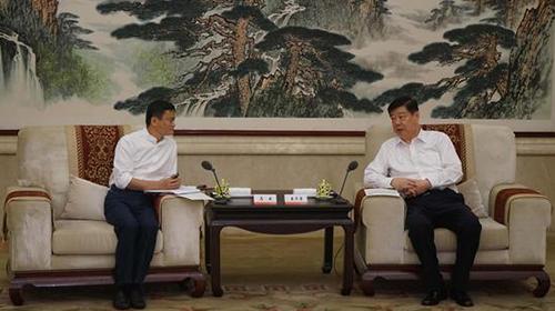山东省委书记会见马云与阿里巴巴开展战略合作